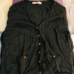 ❤️SOLD❤️Tory Burch black cardigan size XL